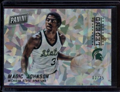 2015 Panini Black Friday Cracked Ice Magic Johnson /25 - Michigan St Lakers