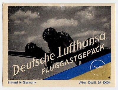 DEUTSCHE LUFTHANSA Fluggastgepäck * Old Luggage Label Kofferaufkleber