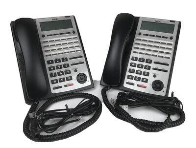 Nec Sl1100 Phone Ip4ww-24txh-b-tel Bk 1100063 Blacklot Of Twotestedworking