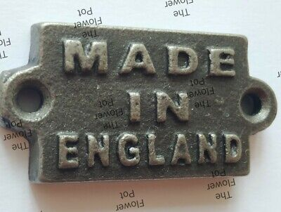 Cast Iron Made In England Sign Plaque Vintage Antique Gift (High Quality )