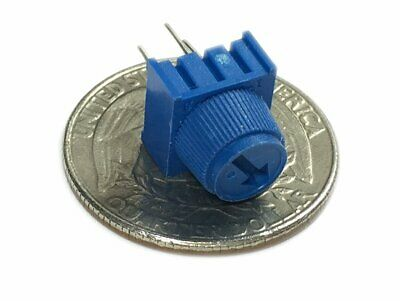 1k Ohm Single Turn Trimmable Potentiometer W Knob - Pack Of 2