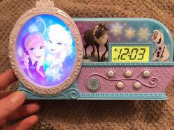 Preowned Disney Frozen Alarm Clock Elsa Anna & Olaf