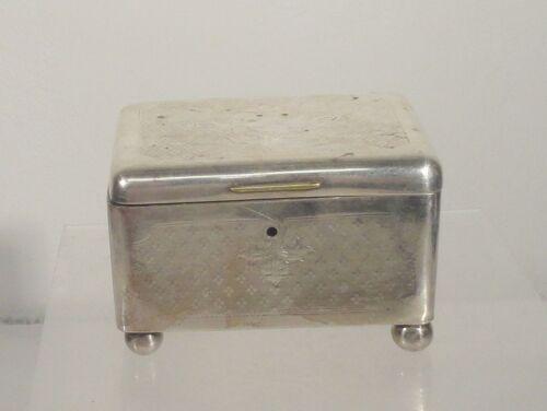 Antique Judaica Silverplate Etrog Box Warsaw Norblin & Co