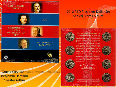 Used, 2012 P&D US MINT SEALED PRESIDENTIAL  8 COIN DOLLARS SET NO RESERVE AUCTION🔨  for sale  Shipping to South Africa