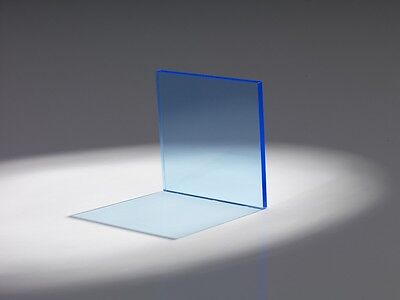 "Blue-Light Translucent Acrylic Plexiglass sheet 1//8/"" x 12/"" x 12/"" 2-pack #2648"
