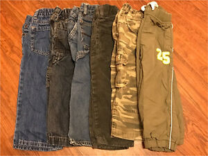 6 pair of boys pants 2T