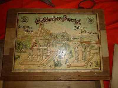 alter leerer  Baukasten von  Samuel Fischer Gothischer Baustyl Seiffen 1920