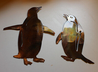 Pair of Penguins Metal Wall Decor by HGMW