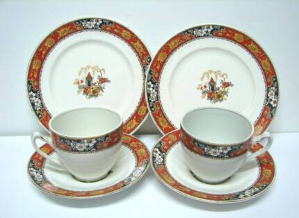 2 scarce old art deco Alfred Meakin Jamaica ptn cup saucer plate Kingswood 2747 Penrith Area Preview