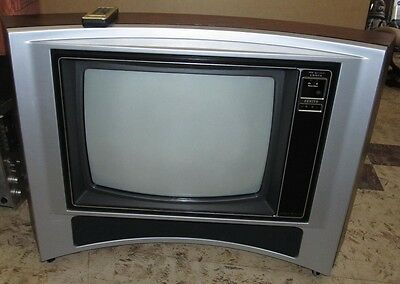 """Vtg ZENITH 25"""" TV Television SY2541X Retro/Space Age/Mod/Hippie/Curved J00216"""