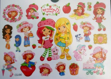 New Strawberry Shortcake Kids Temporary Tattoo