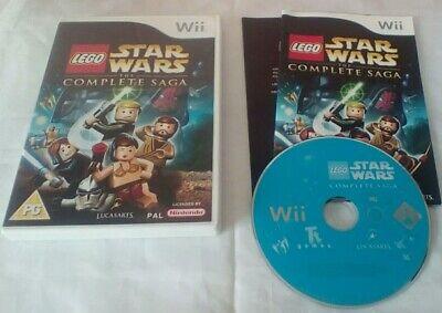LEGO STAR WARS: THE COMPLETE SAGA (Wii, 2007) WII WII U GAME W/M PAL KIDS FAMILY