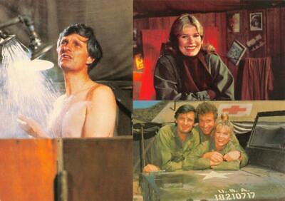 3~Oversize 4x6 1982 Postcards  MASH  TV Advertising  Hawkeye~Hot Lips & Trapper