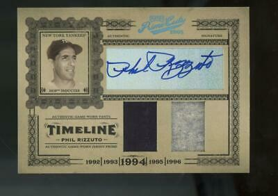 2005 Playoff Prime Cuts Timeline #T33 Phil Rizzuto 2/10 Auto Autograph Jersey
