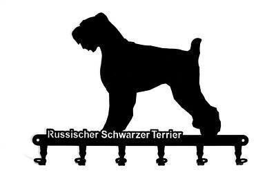 Schlüsselbrett / Hakenleiste * Russischer Schwarzer Terrier * - Hund - 6 Haken