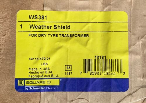 WS381 Square D Weather Sheild for Dry Type Transformers