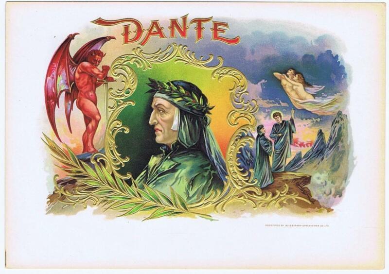 Dante  cigar box  label Sulzberger-oppenheimer Co Ltd