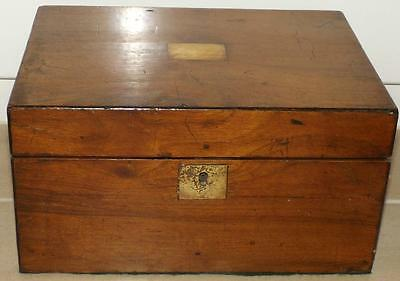 Antique 19thC Walnut Writing Slope With Fitted Interior
