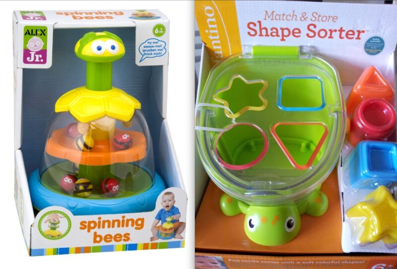 Shape Sorter And Spinning Toy