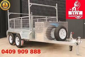10x5 Box Tandem Trailer Galvanised Heavy Duty With Ladder Racks