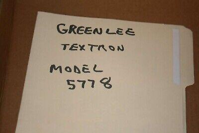 Greenlee Textron Model 5778 Megohmmeter