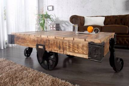 Brand New Industrial Cart Style Coffee Table