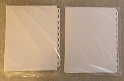 Lot Of 2 Sets Of Avery Exhibit Side Tabs Dividers Exhibit A-z 8.5 X 11 - New