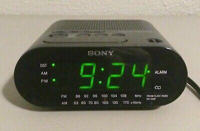 Sony Dream Machine AM/FM Alarm Clock Radio Model ICF-C218 Black Tested