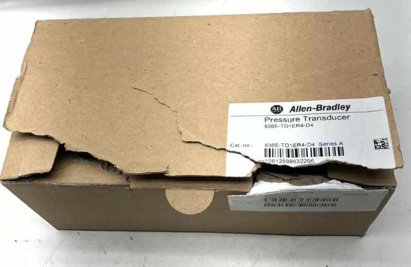 NEW ALLEN-BRADLEY PRESSURE TRANSDUCER 836E-TD1ER4-D4 SERIES A 4-20ma OUT NIB