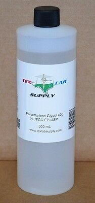 Polyethylene Glycol 400 Peg 400 Nf-fccep-usp 500 Ml - Food Gradeconcentrates