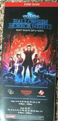 2019 HHN 29 Universal Studios Halloween Horror Nights Brochure Event Guide