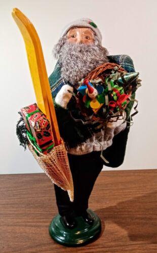 Rare NUMBERED 5/100 Byers Choice Caroler Grandpa Shopper-Green Jacket, Toys~Mint