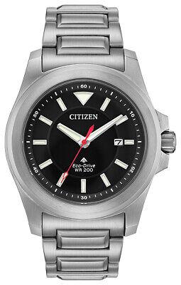 Citizen Eco-Drive Men's Promaster Date Silver-Tone Band 42mm Watch BN0211-50E
