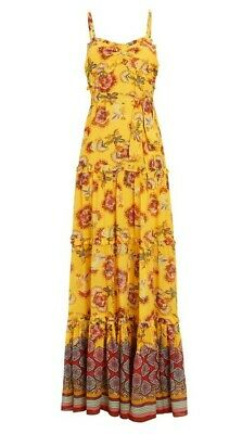 Alexis Lussa Floral Print Maxi Dress Size Small