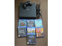 Playstation 4 Pro 1TB PS4 with games and controller