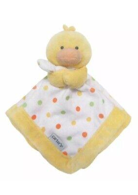 Carter's Polka Dot Yellow Duck Chick Lovey Plush Toy Blanket NWT NEW Polka Dot Duck