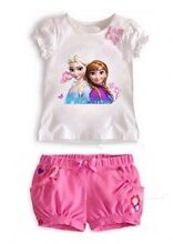 New frozen Elsa and Anna tshirt and shorts age 4-5 Wembley Downs Stirling Area Preview