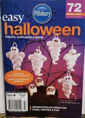 Easy Halloween Treat Recipes (Pillsbury Easy Halloween #368 Treats Cupcakes Recipe Cards FREE SHIPPING)