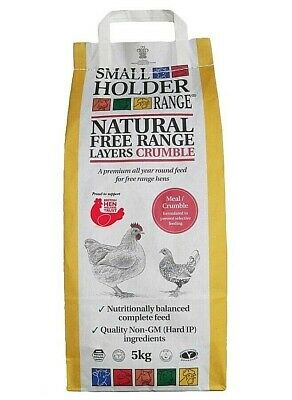 Range Layers Crumble Small Holder Allen Page Natural Gm Free 5kg Feed Poultry
