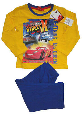 Cars Jungen langarm Pyjama Kinder Schlafanzug Lightning McQueen Nachtwäsche