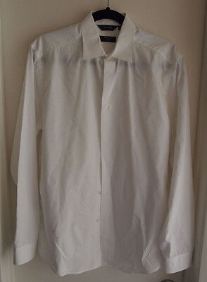 Paul Smith Men's Size 15 1/2 / 39 The Byard White LS Dress Shirt 100% Cotton