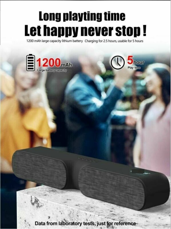 Bluetooth Speaker Wireless For Outdoor Stereo Bass Sound Bar Cell Phone TV Home