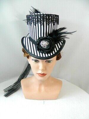 Dressur Victorian Riding Hat Damenhut Tophat Headpiece Hut (Weiß Tophat)