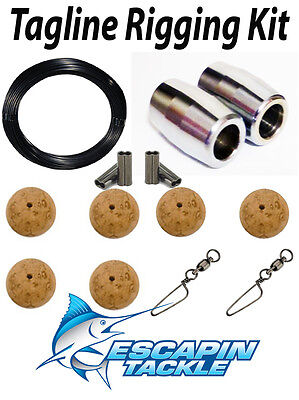 Complete Tagline Rigging Kit. Rigs two outriggers. Quality Outrigger Parts