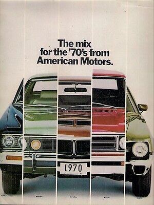 American Motors Hornet Rebel Javelin AMX Ambassador 1970 USA Market Brochure