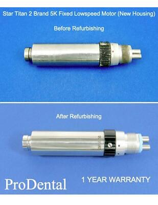 Star Titan 2 - 5000 Rpm Fixed Lube Free Dental Handpiece Motor New Housing