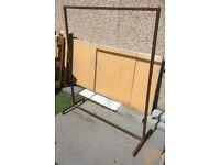 industrial metal clothe rail railing black shop market hanger