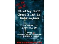 Ghost hunt at strelley hall in nottingham