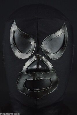 BLACK SHADOW Adult Mask Mexican Wrestling Mask Lucha Libre Luchador Costume - Wrestling Costumes