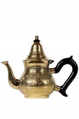 Orientalische Marokkanische Messing Teekanne Kanne Sieb Griff Deko marokkanisch